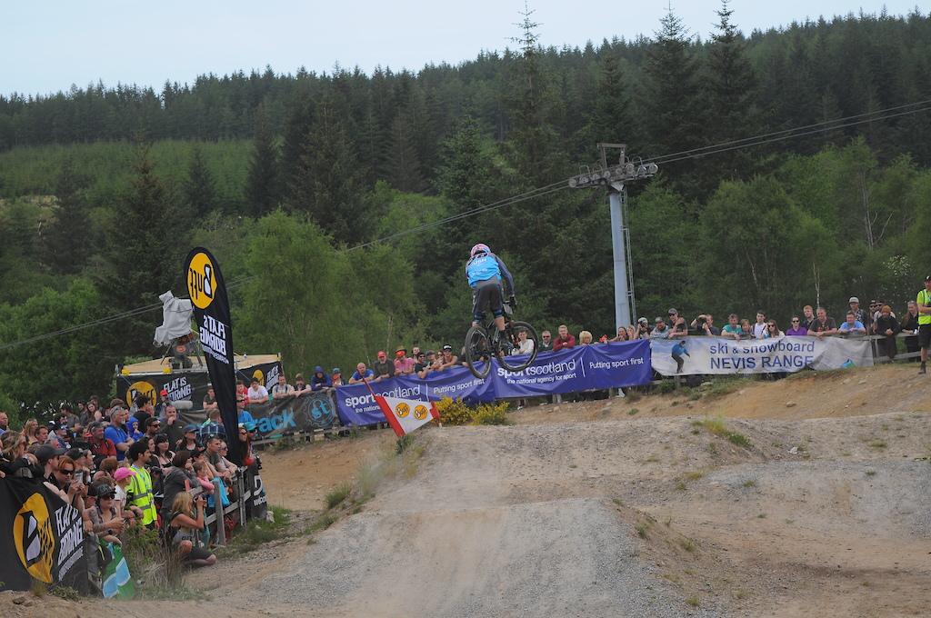 Scott Beaunmont launching the triple