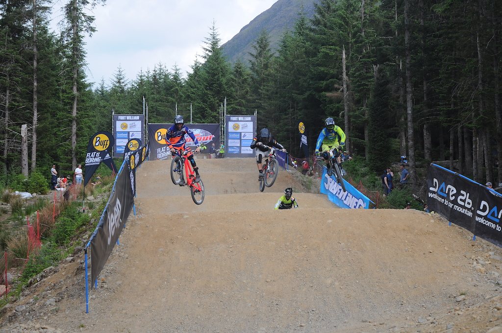 Coming up to the first berm