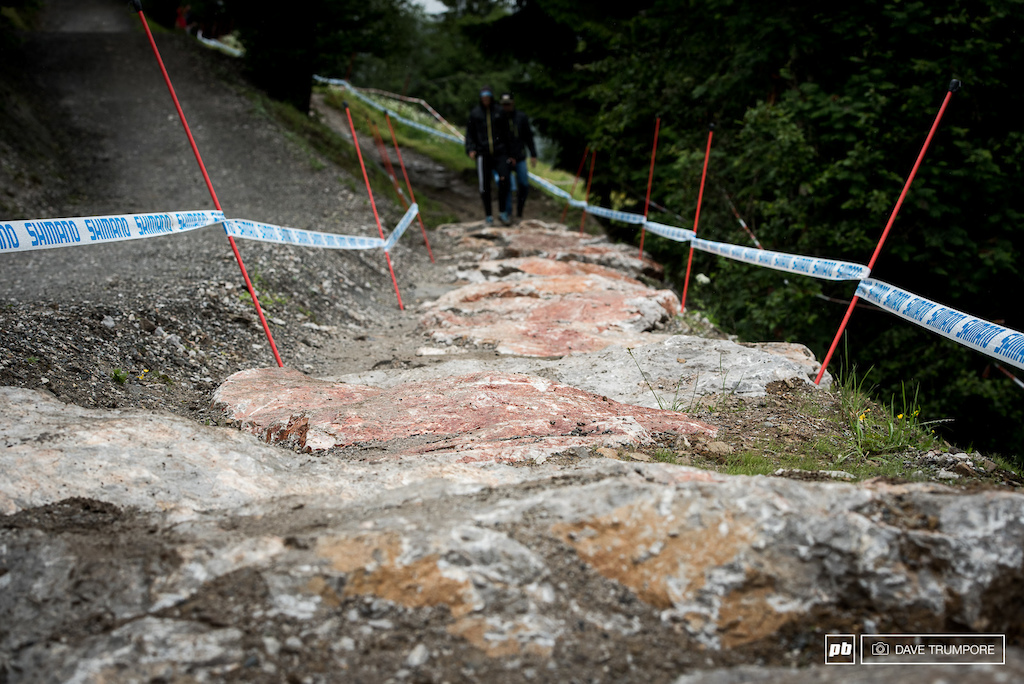There isn t much rock here naturally so the track builders in Leogang have constructed four of their own rock gardens.