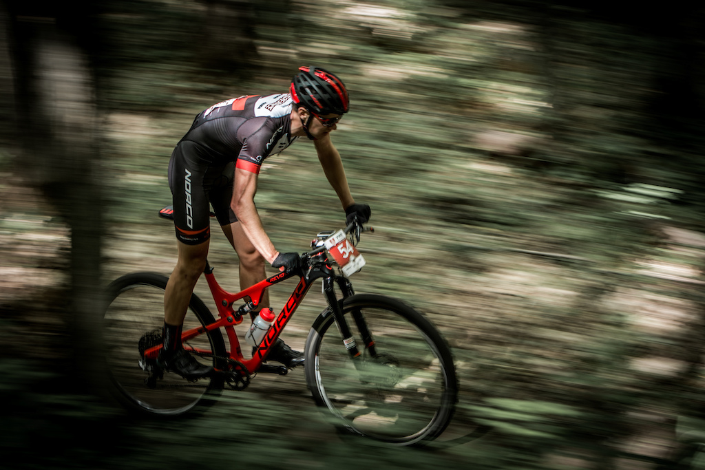 Andrew L Esperance speeding through the forest.