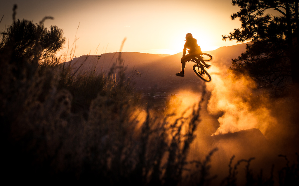 Sunset throw down at the Kamloops Bike Ranch.