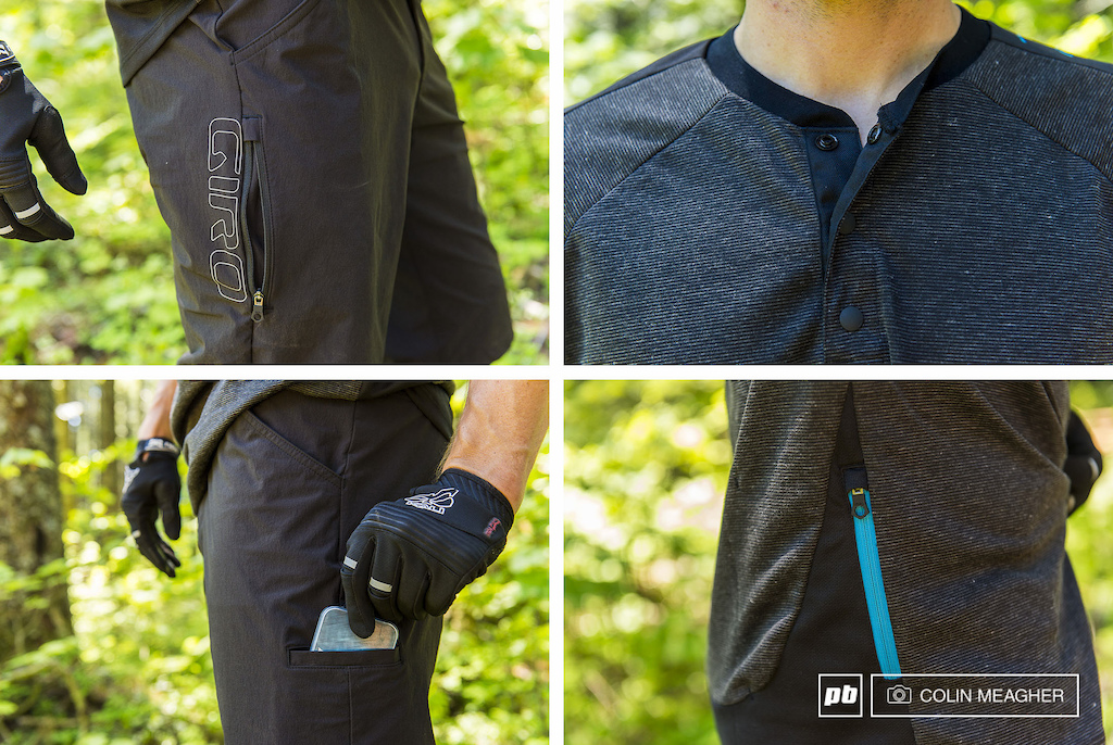 Detail shots of Giro s Truant Shorts and Jersey.