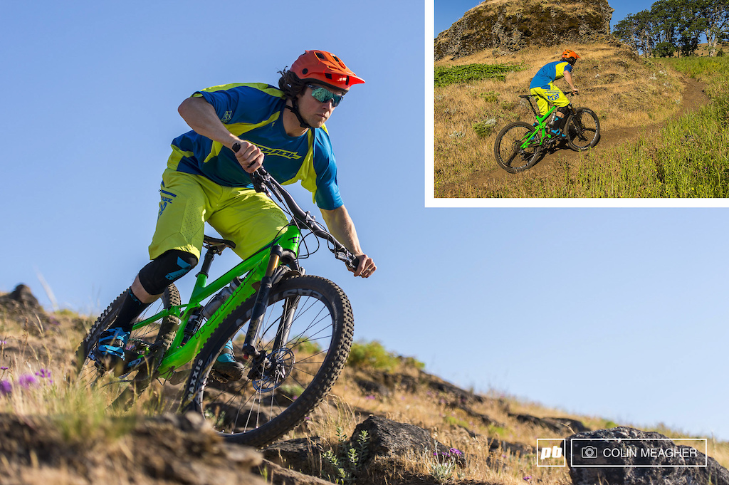 Tyler pedaling around on the Syncline Trails with the Royal Racing Stage Short and the Turbulence Jersey.