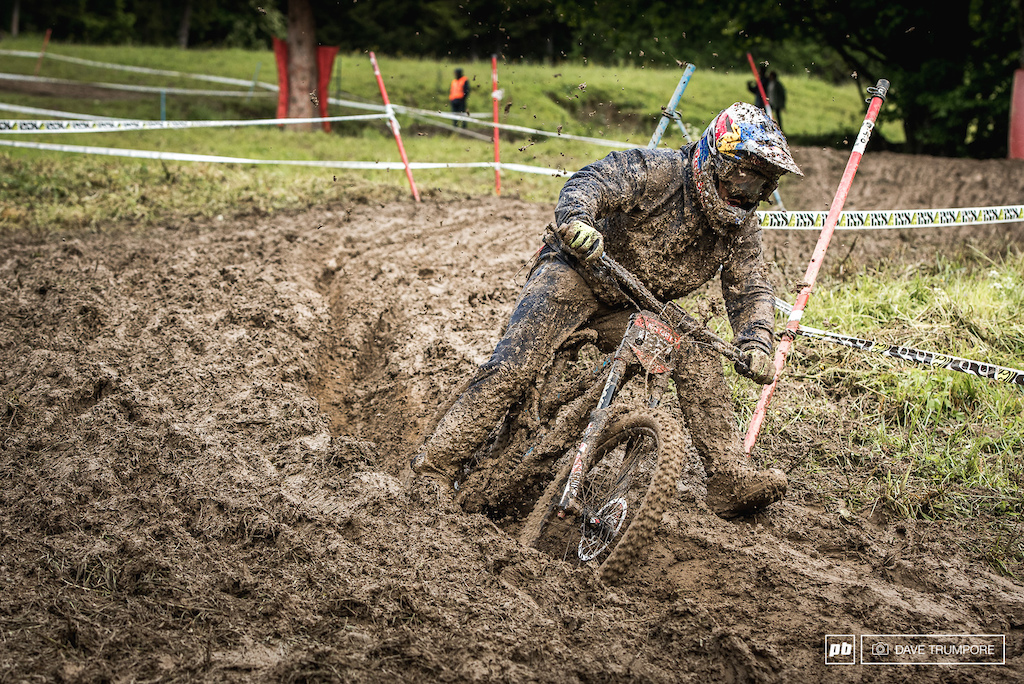 Marcelo goes full moto, wishing he had a throttle though to get across the boggy bits lower down.