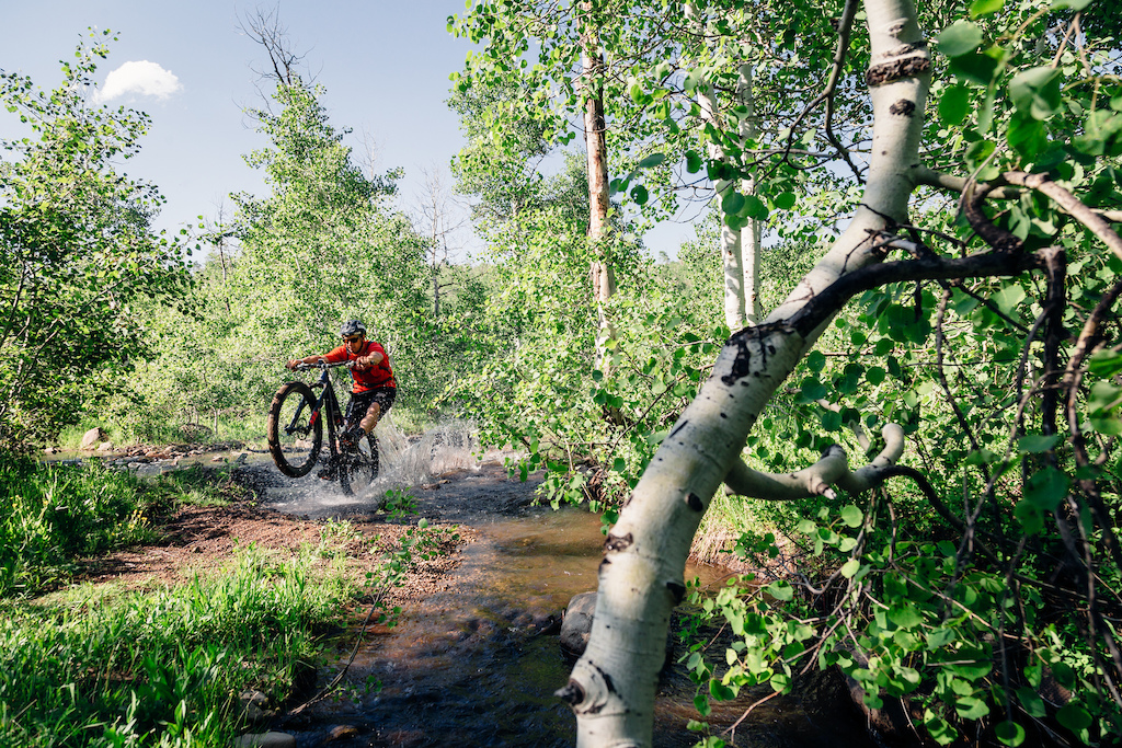 Eric Porter and some rare moisture on the trails of Park City