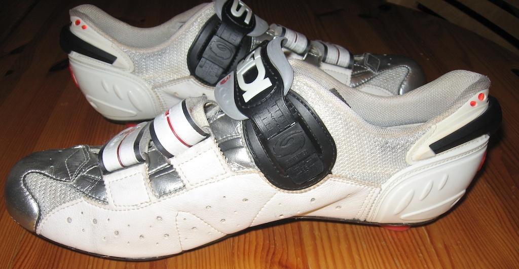 2007 Sidi Men's White/Chrome Genius 6.6 Carbon Shoes 44.5
