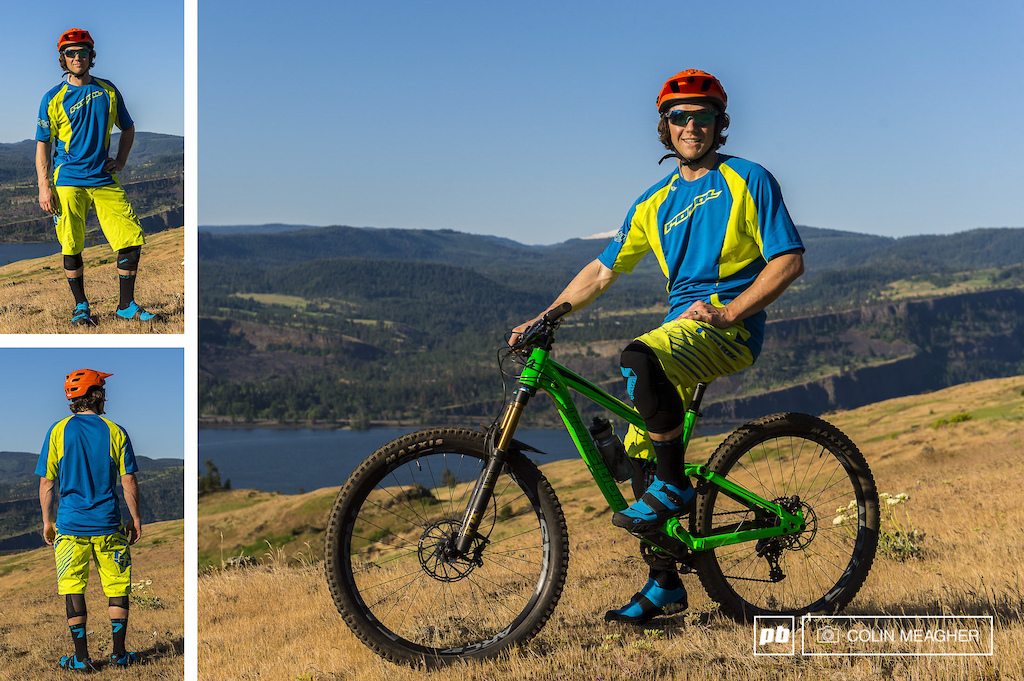 Tyler Horton modeling Royal clothing for the 2016 Spring summer clothing review on Pinkbike