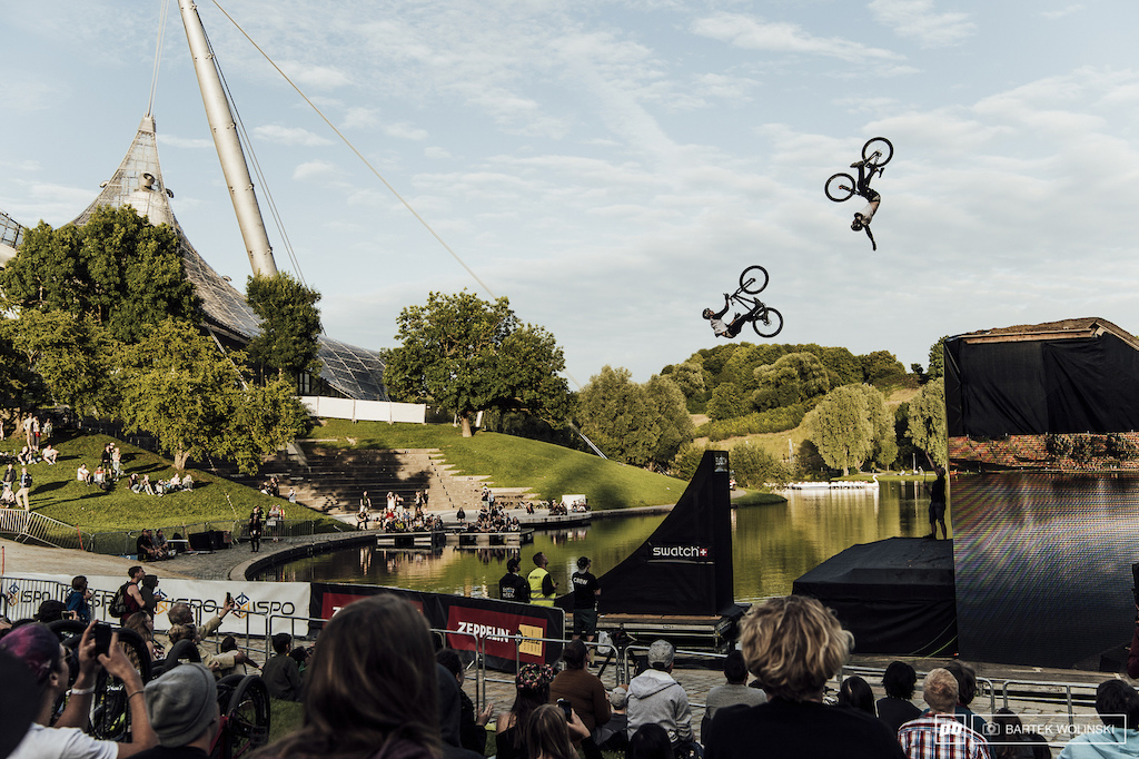 Mehdi Gani with one of his favorite big jumps combination - backflip barspin to late tuck no hander.