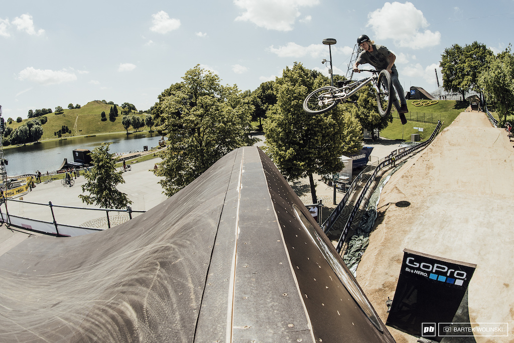 Logan Peat casually tailwhipping the step up.