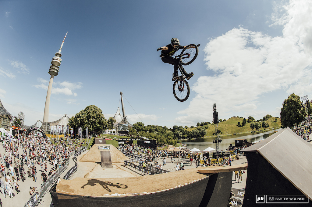 Max s 360 tuck no hander off the whale tale was one of the biggest moves done on that obstacle.