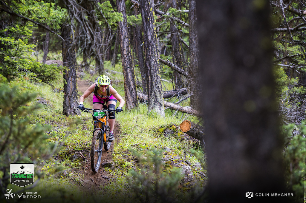 Karay Watanabe racing with a bit less protection than most of the competitors but her stoke for the race made up for the lack of coverage and her skills propelled her to fifth place for the open women division.