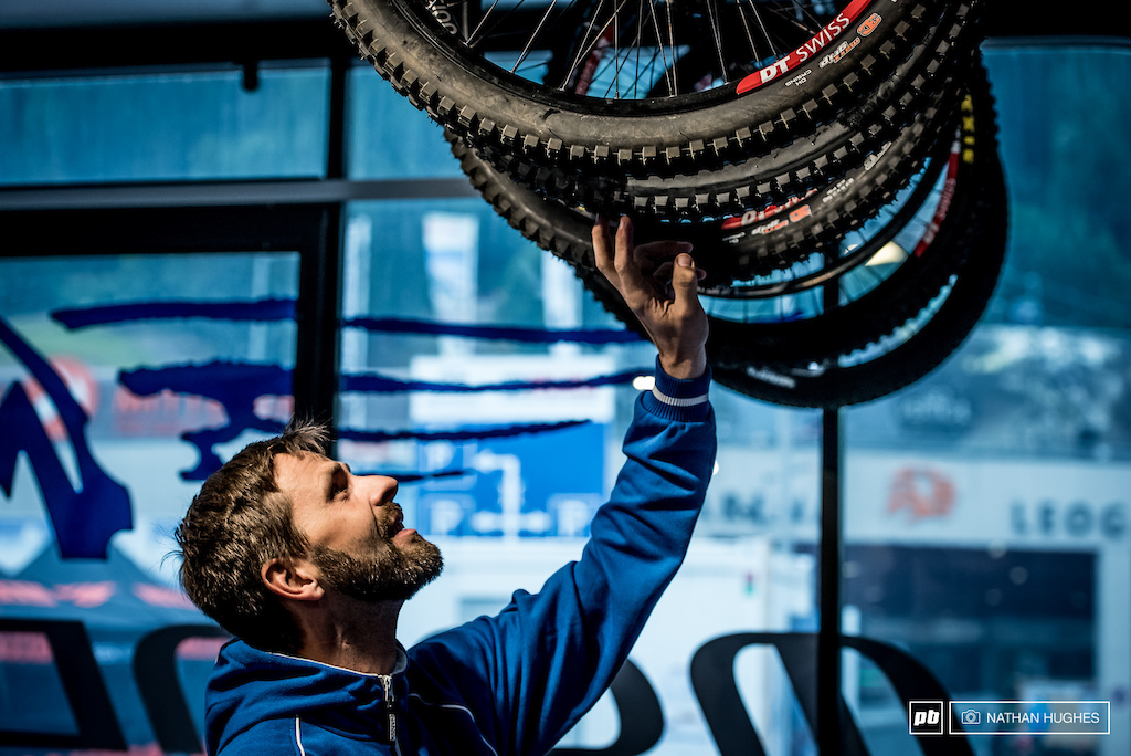 Danny Hart's mechanic, Christian, knows how crucial tyre choice will be this weekend.