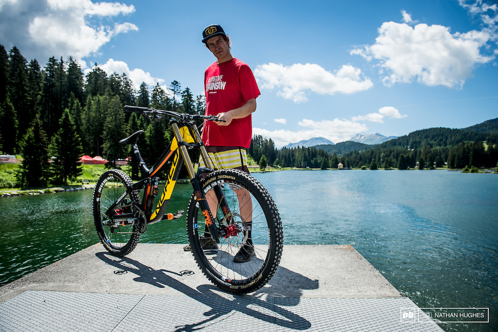 Sam Blenkinsop showing off some fresh paint and the new Norco team colours.