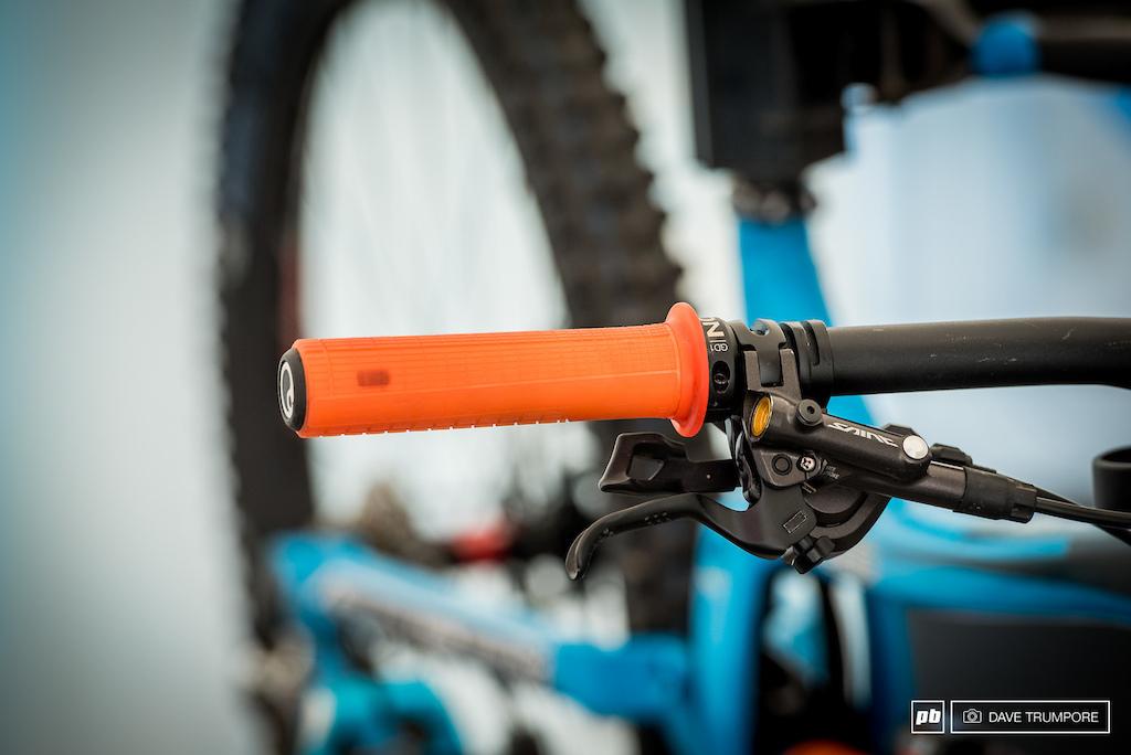New Ergon DH grips on Tahnee Seagraves bike.