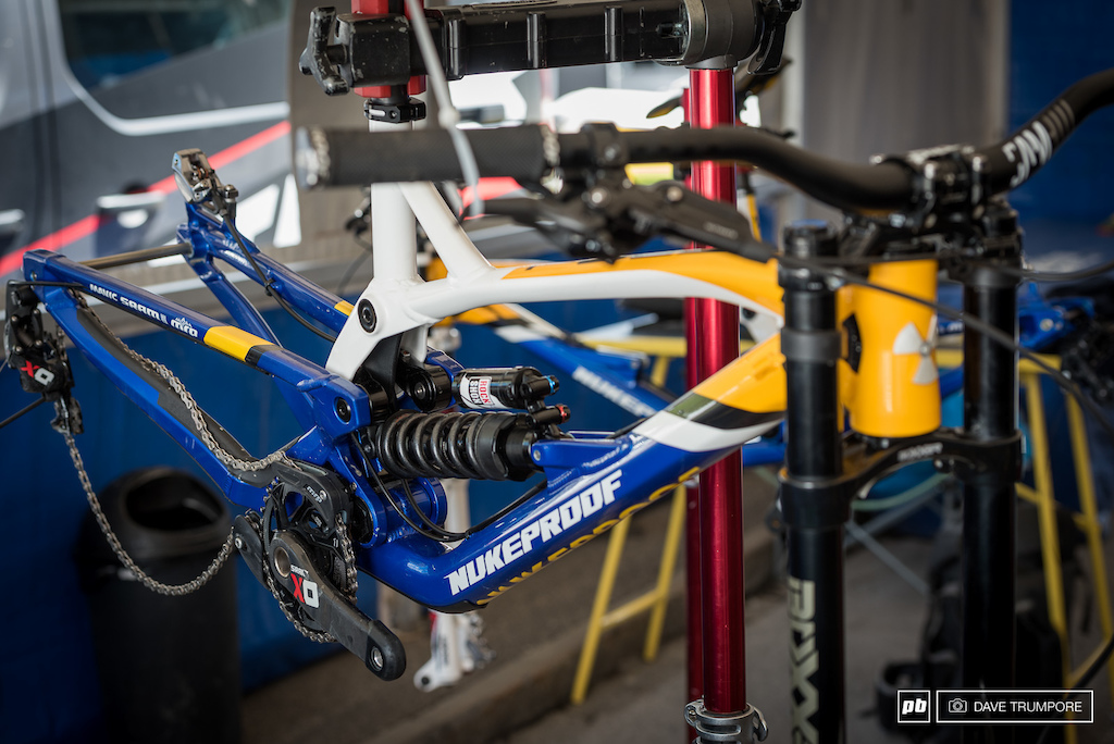Mike Jone s Nukeproof getting a once over