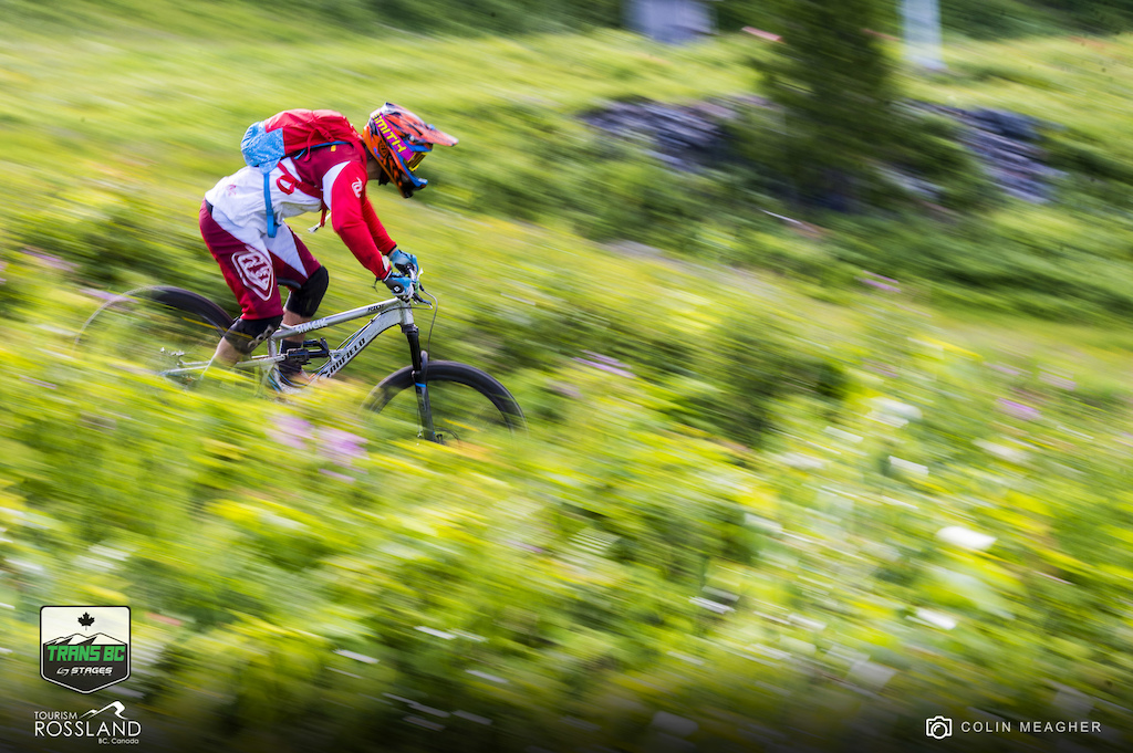 Racing the inaugeral Trans BC Enduro on day 3, Rossland, BC