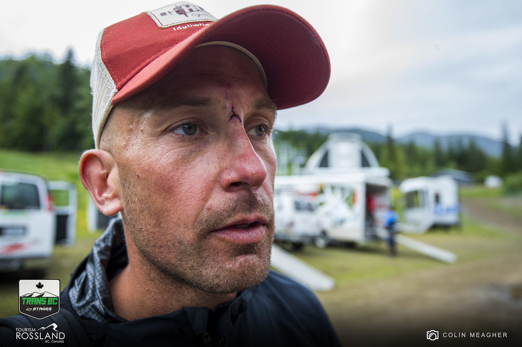 Craig Harvey channeling his third eye after a long day in the saddle.