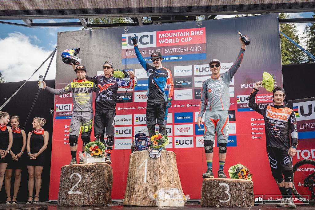 The five fastest men in Lenzerheide.