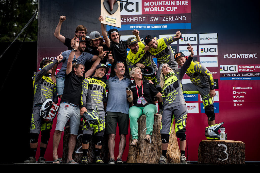 Commencal Riding Addiction fastest team here in Switzerland and no surprise with that kind of a line-up.