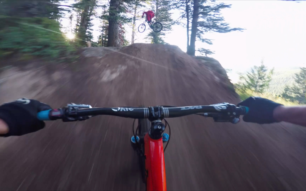 "Screen grab from an early morning lap on Teton Pass, Wyoming.  I would categorize this as highly ""enduro""..."