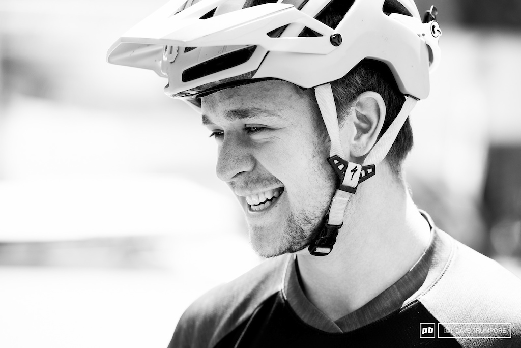 It was Troy Brosnan's Birthday on Wednesday and he was all smiles after walking a few of the phenomenal stages hidden in La Thuile's steep hillsides.
