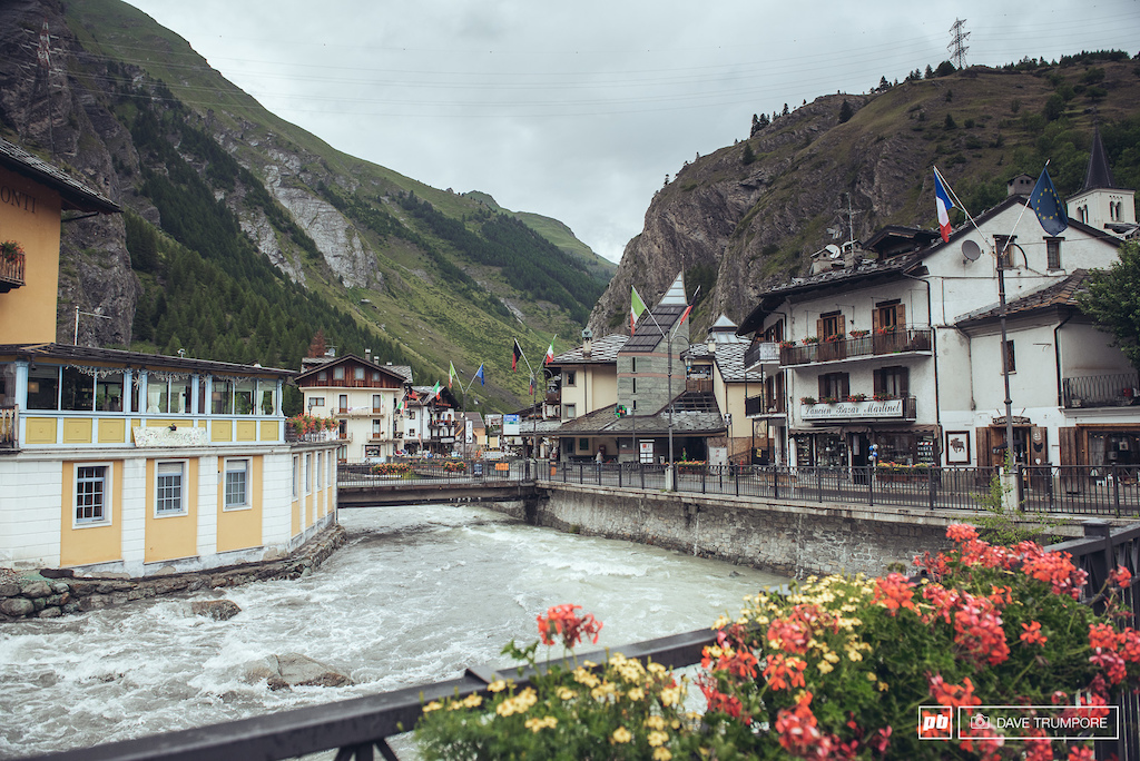 The alpine Village of La Thuile.