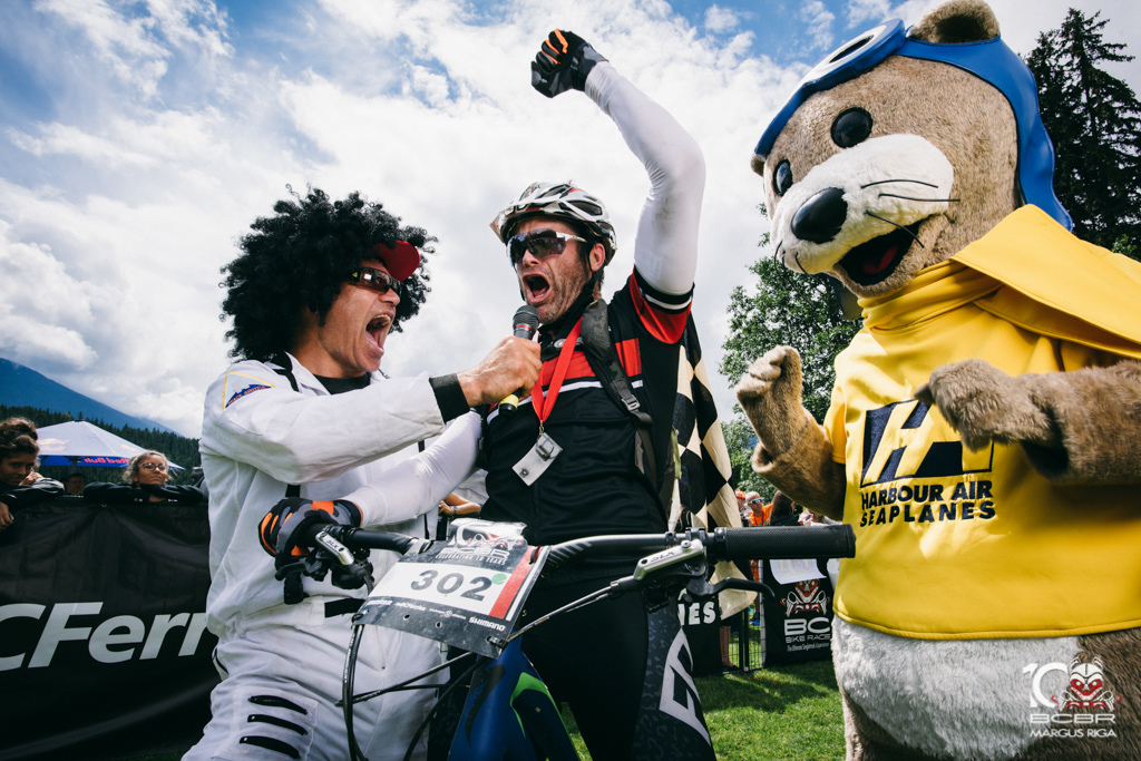 Men in costumes make the BC Bike Race what it is.