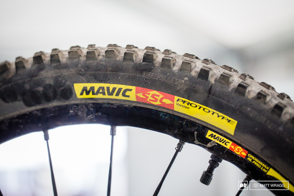 Mavic have prototype tyres under a few riders this weekend.
