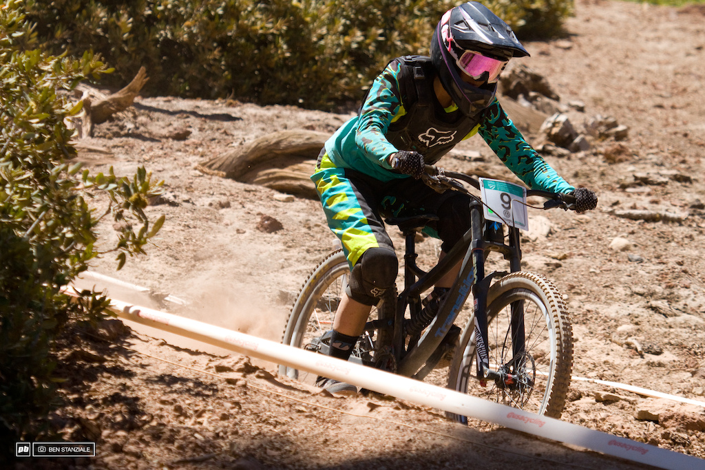 Wentz, out of Reno NV, makes the 5th spot in Pro Women's Downhill.