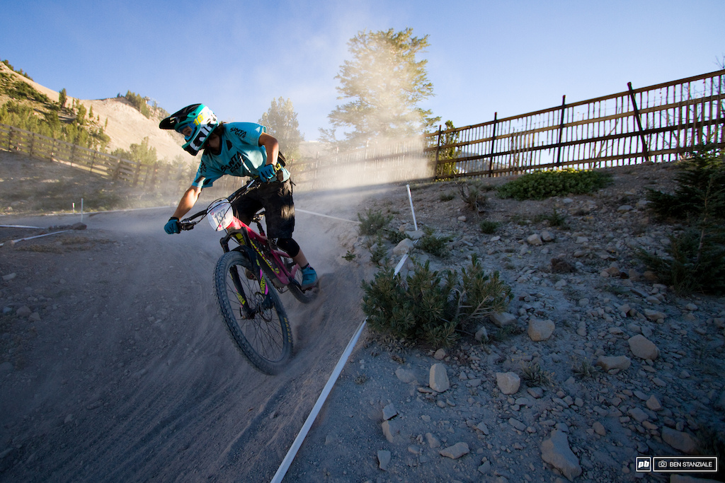 Riders use evening practice as their last chance to ride the tracks before Sunday's final.