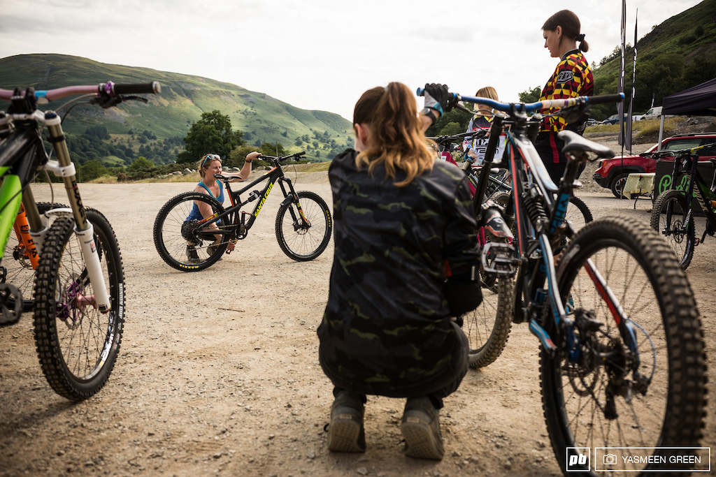 Before the riding began the girls were taken through some basic bike checks to ensure their bikes were safe to ride. Tyre pressures basic suspension settings and the positioning of controls were just some of the areas covered to ensure that all were prepared