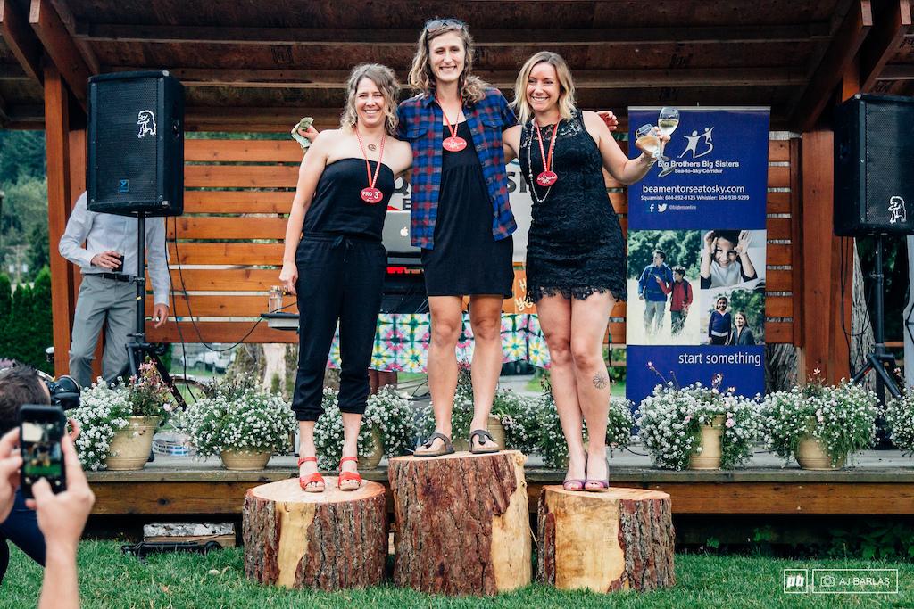 Pro Women s category podium