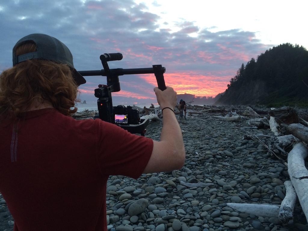 Garret and Kerry nailing the sunset shot.