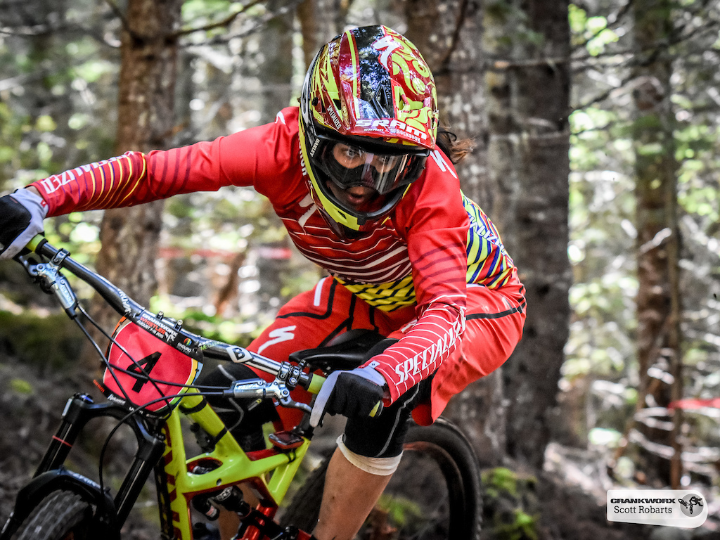 Anneke Beerten of The Netherlands races in the SRAM Canadian Open Enduro Crankworx Whistler 2015. Photo by Scott Robarts .