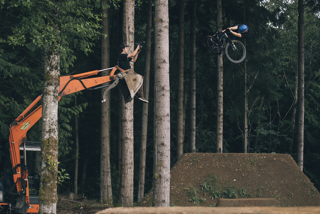 Brandon Semenuk rides for Rupert Walker filming.