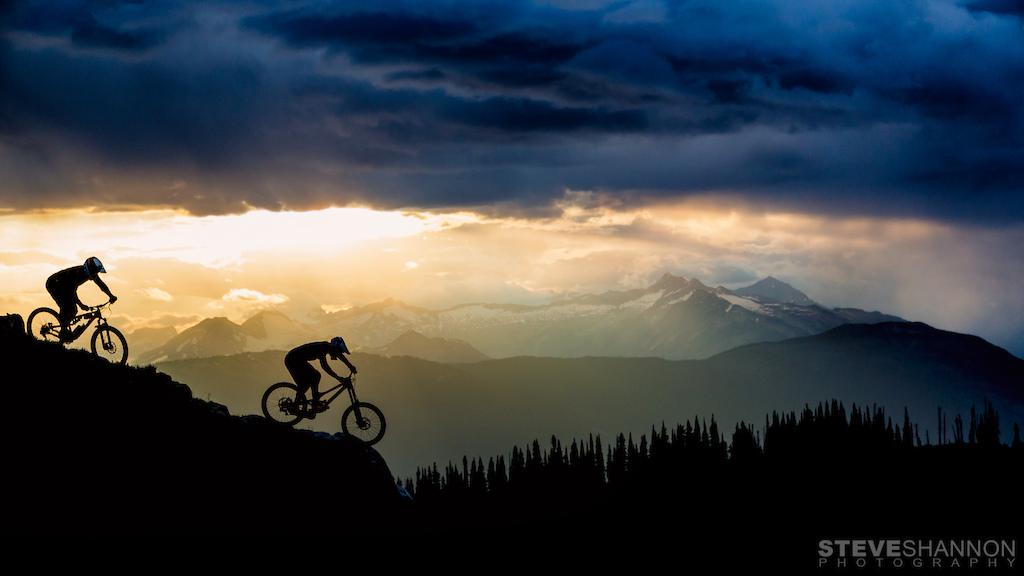 Glory light in the alpine.