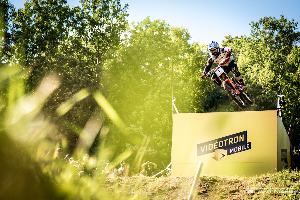 After a practice run crash, Aaron Gwin found Danny Hart's time just out of reach once again.