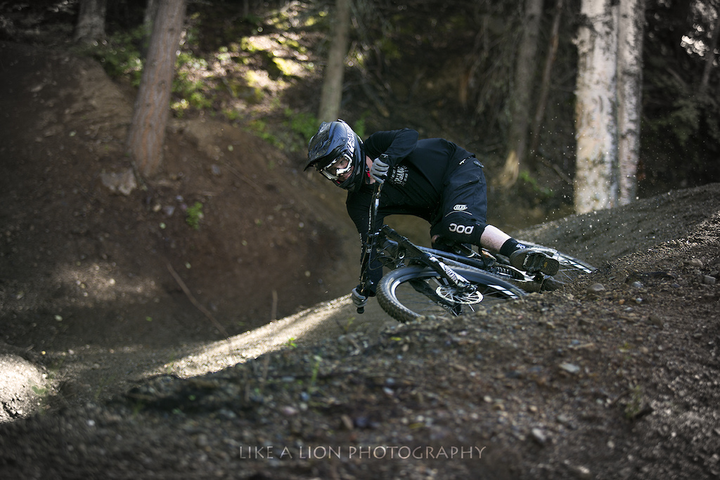 Railing berms on the lower half of Up Your Antler