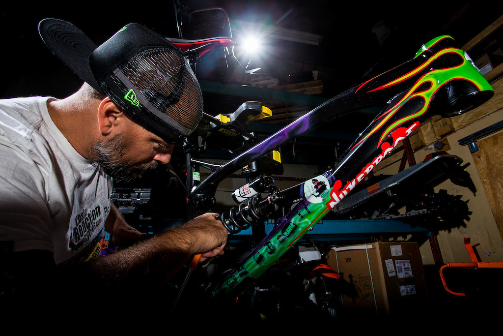A man with an eye for even the smallest detail, ensuring that his and Sam's bike is always perfect.