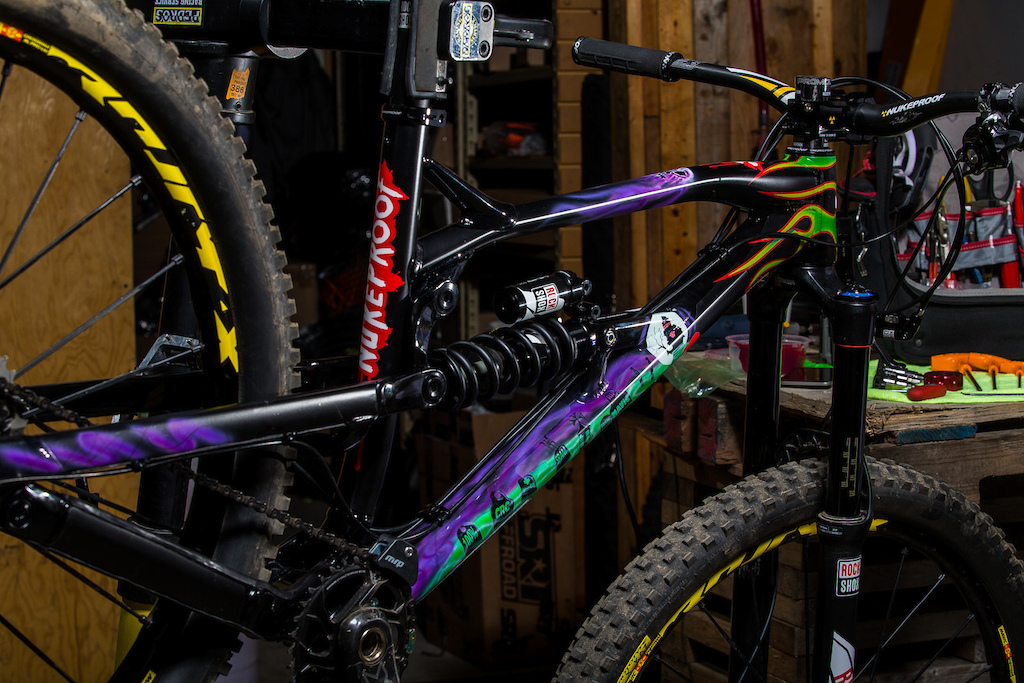Nukeproof's new Super Light Spring fitted to the Vivid shock. 