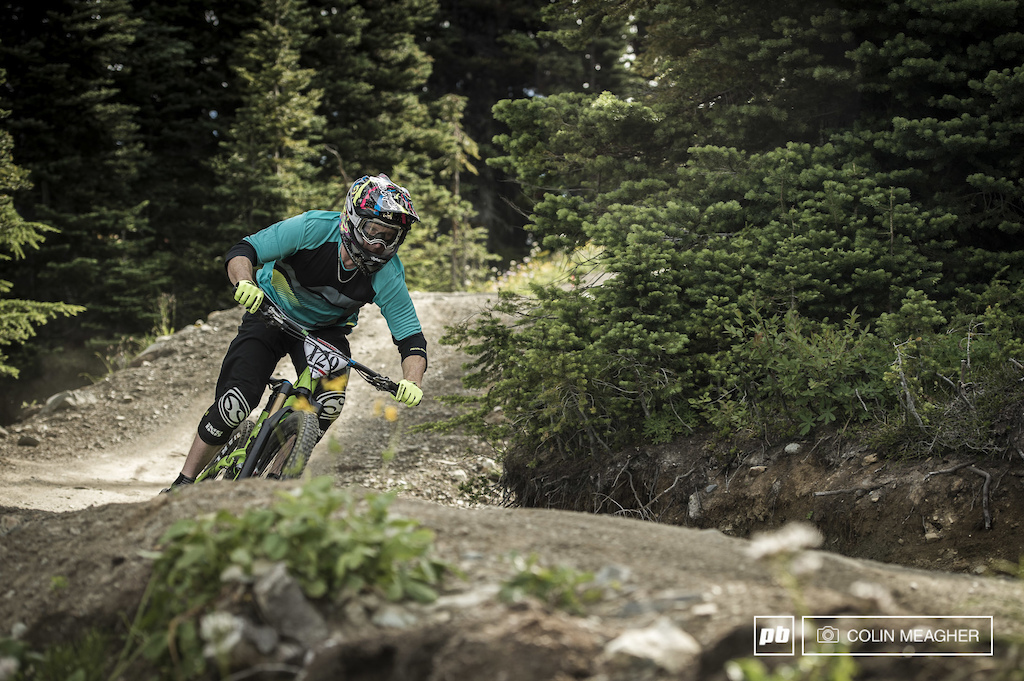 San Clemente CA must seem like a distant memory for John Levey as he pedals into stage one of the Challenger Enduro.