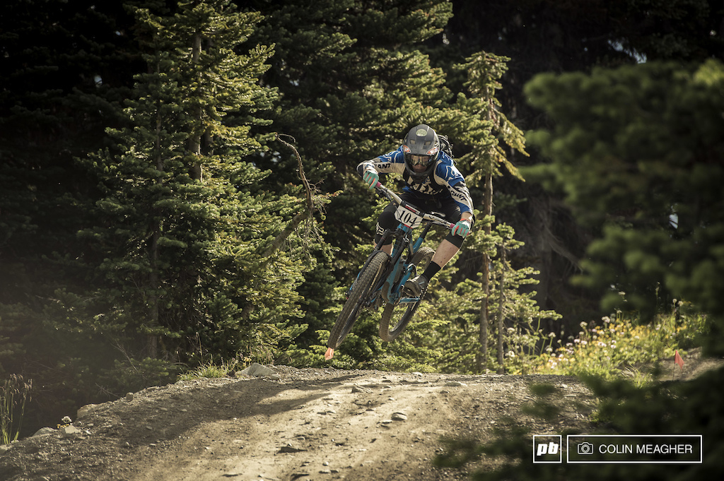 """Josh Reilly on stage one of the """"Challenger"""" Enduro."""