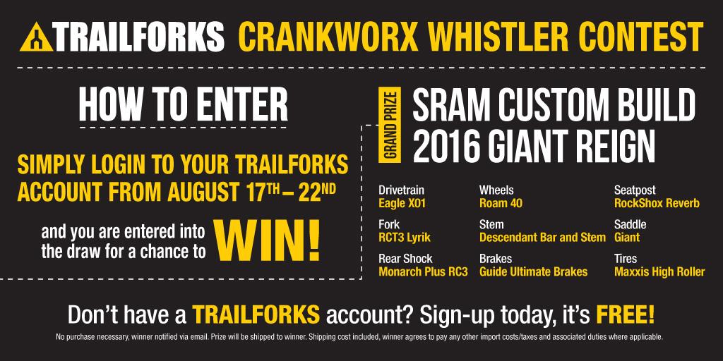 Crankworx Trailforks Contest