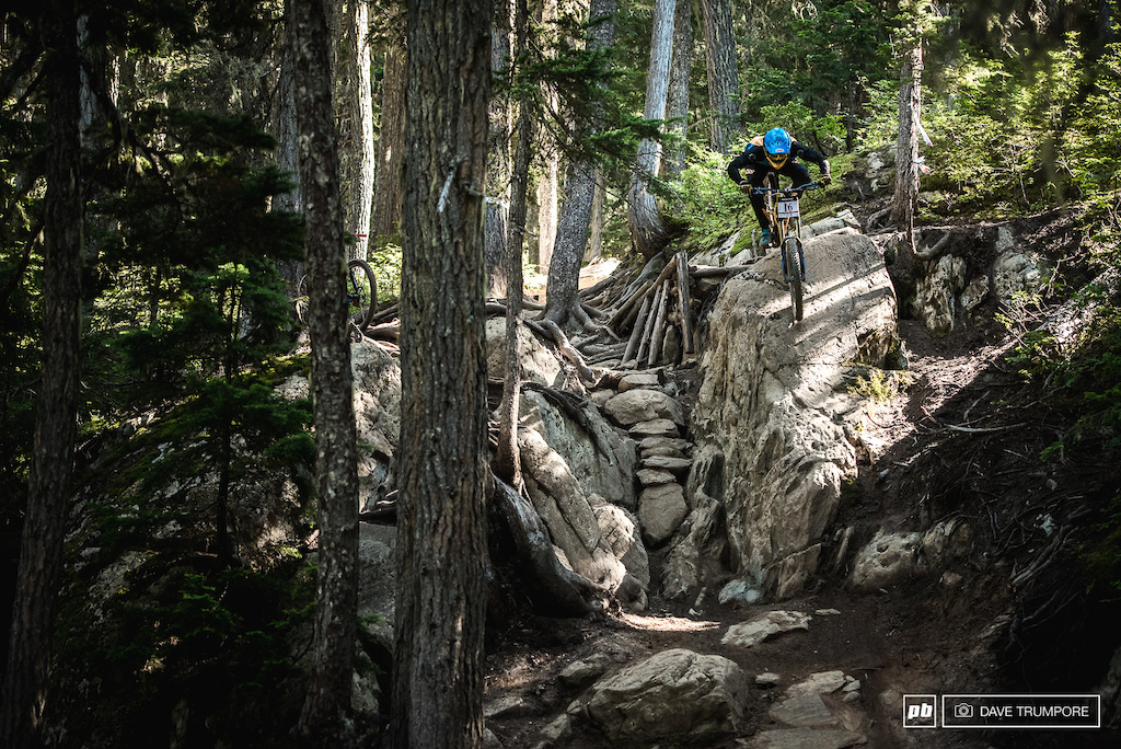 Phil Atwill takes the high line and smashes one big rock instead of eleven.