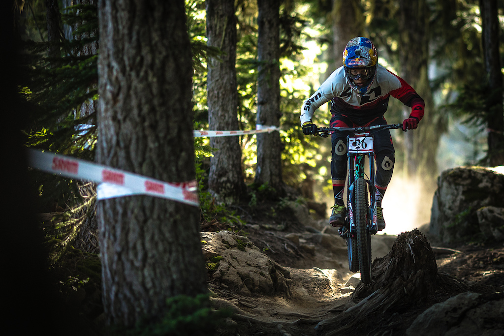 Finn Isles during the Garbonzo DH Race at Crankwork Whistler 2016. Photo by Clint Trahan