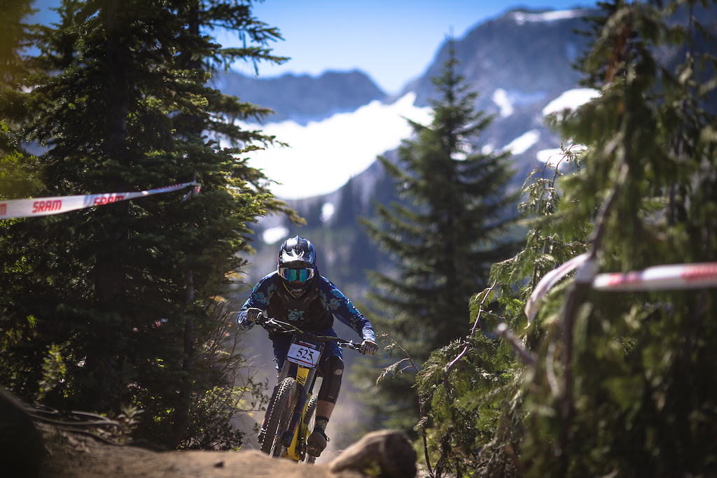 Connor Hamilton during the Garbonzo DH Race at Crankwork Whistler 2016. Photo by Clint Trahan