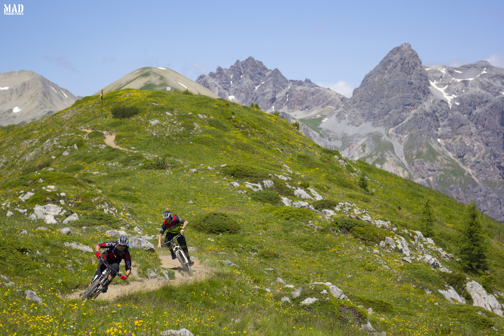 We learn something every time we get out the comfort zone and go explore big mountains. Go outside ! MADproductions boys riding Livigno singletracks with Monkeymtb !