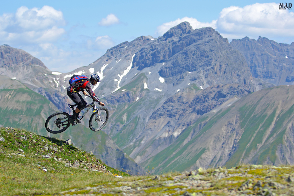 MADproductions boy, Rui Sousa, dropping in from 3000 meters to 1800 meters at Livigno, Italy, during our adventure trip with Monkeymtb !