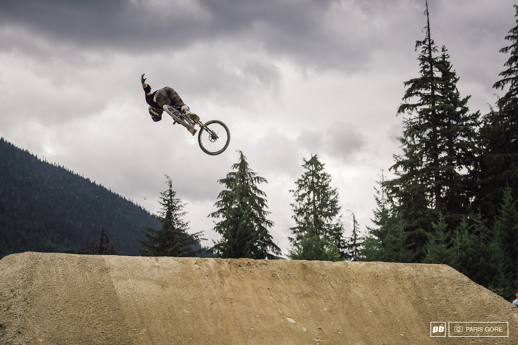 Ryan Nyquist bringing some seriously different tricks to the course. 360 1 handed X-UP.