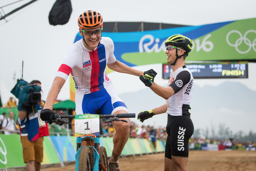 Jaroslav Kulhav and Nino Schurter. They just switched the roles from London 2012.